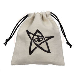 CALL OF CTHULHU DICE BAG WHITE