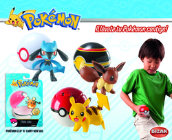 BOX FIGURES POKEMON CLIP CARRY ASSORTED (6)