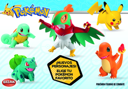 BOX POKEMON FIGURES COMBAT ASSORTED (8)