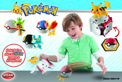 BOX FIGURES POKEMON POKEBALL THROW ASSORTED (4)