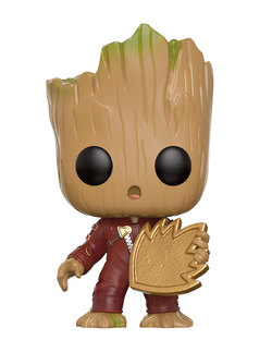 FIGURA POP GUARDIANES DE LA GALAXIA: YOUNG GROOT SHIELD