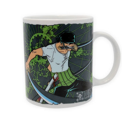 ONE PIECE - MUG - 320 ML - ZORO & EMBLEM - PORCL. WITH BOXX2