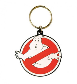 GHOSTBUSTERS RUBBER KEYCHAIN LOGO