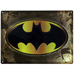 PLACA DE METAL BATMAN 28X38
