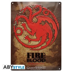 GAME OF THRONES - METAL PLATE