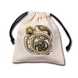 STEAMPUNK BEIGE & MULTICOLOR DICE BAG