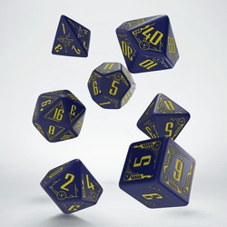 GALACTIC NAVY & YELLOW DICE SET (7)