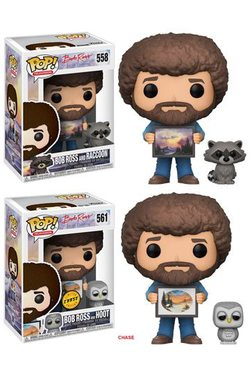 JOY OF PAINTING POP! BOB ROSS WITH RACCOON 9CM ASSORTMENT (6)