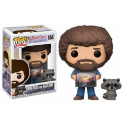 JOY OF PAINTING POP! BOB ROSS WITH RACCOON 9CM FIGURE