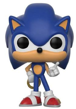 FUNKO POP! GAMES: SONIC - SONIC WITH RING VINYL FIGUR 10CM