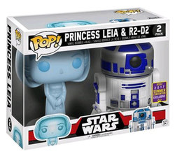 FIGURA POP PACK STAR WARS: RD-D2 AND LEIA HOLO