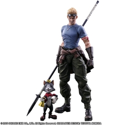 FINAL FANTASY FIGURE:  VII CID HIGHWIND & CAITH SITH PLAY ARTS