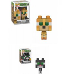 POP FIGURE DISPLAY BOX MINECRAFT OCELOT CHASE 5+1