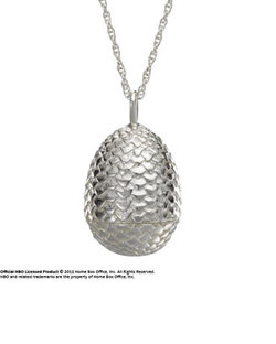 GAME OF THRONES DRAGON EGG SILVER PENDANT