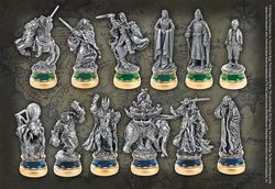 LORD OF THE RINGS RETURN OF THE KING CHESS PIECES (6+6)