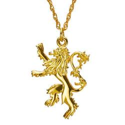 GAME OF THRONES LANNISTER SILVER W/GOLD PENDANT