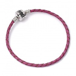 PULSERA CHARMS HARRY POTTER ROSA CUERO M 19CM