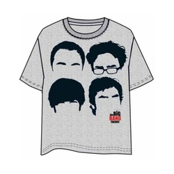 BIG BANG THEORY T-SHIRT FACES XXL