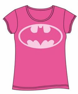 BATMAN GIRL T-SHIRT PINK L