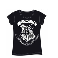 HARRY POTTER GIRL T-SHIRT HOGWARTS NEGRA XL