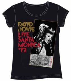 CAMISETA DAVID BOWIE LIVE SANTA MONICA XL