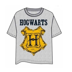 CAMISETA HARRY POTTER HOGWARTS GRIS M