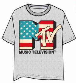 CAMISETA MTV LOGO GRIS XL