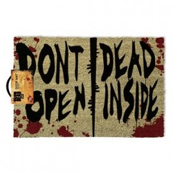 FELPUDO WALKING DEAD DON`T OPEN 40 X 60