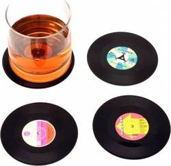 VYNIL MINI COASTERS ASSORTMENT 11 CM (4)