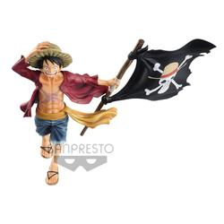 FIGURA BANPRESTO ONE PIECE LUFFY BANDERA 22 CM