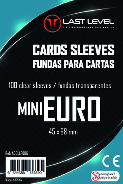 FUNDAS LAST LEVEL MINI EURO (45x68) (100)