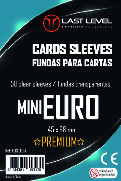 FUNDAS LAST LEVEL MINI EURO PREMIUM (45x68) (50)