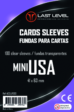 FUNDAS LAST LEVEL MINI USA (41x63) (100)