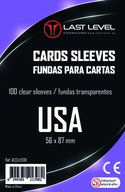 FUNDAS LAST LEVEL USA (56x87) (100)