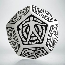 QW D12 DICE HIT LOCATION DIE WHITE /BLACK