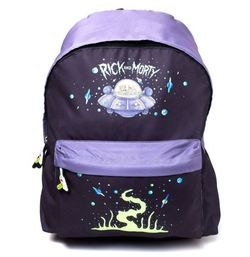 RICK AND MORTY SPACESHIP PRINT BACKPACK