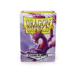 FUNDA DRAGON SHIELD MATTE CLEAR PURPLE (100)