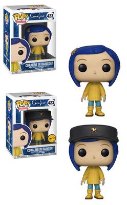 POP FIGURE CORALINE BOX: RAINCOAT CORALINE 5+1 CHASE