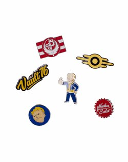 FALLOUT 76 6 METAL PIN SET