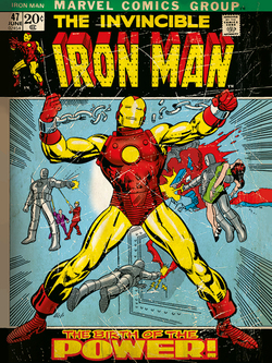 CUADRO CANVAS IRON MAN RETRO 30 X 40
