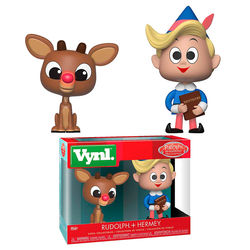 FIGURA VYNL PACK RUDOLPH & HERMIE