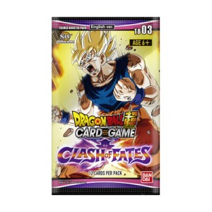 DRAGON BALL TCG  CLASH OF FATE THEMED 3 BOOSTER (24) (ENGLISH)