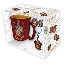 PACK HARRY POTTER GRYFFINDOR TAZA+LLAVERO+PINS
