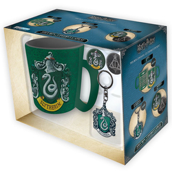 PACK HARRY POTTER SLYTHERIN TAZA+LLAVERO+PINS