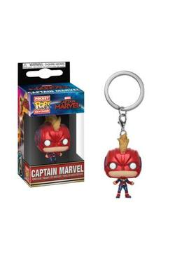 LLAVERO POP CAPTAIN MARVEL HELMET