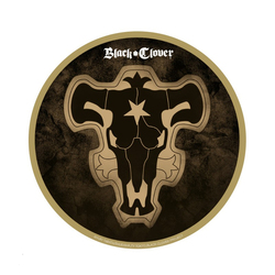 BLACK COVER BLACK BULL EMBLEM SHAPED MOUSEPAD