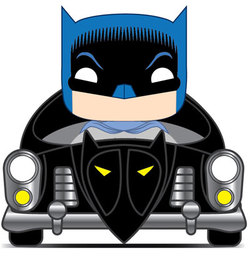 POP FIGURE BATMAN 80TH: BATMAN & BATMOBILE 1950