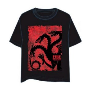 GAME OF THRONES T-SHIRT PIEDRA TARGARYEN XXL