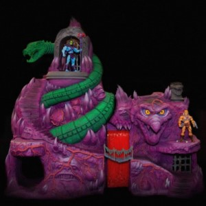 MASTERS OF THE UNIVERSE SNAKE TEMPLE SCENERIO