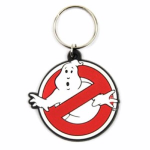 GHOSTBUSTERS LOGO RUBBER KEYCHAIN